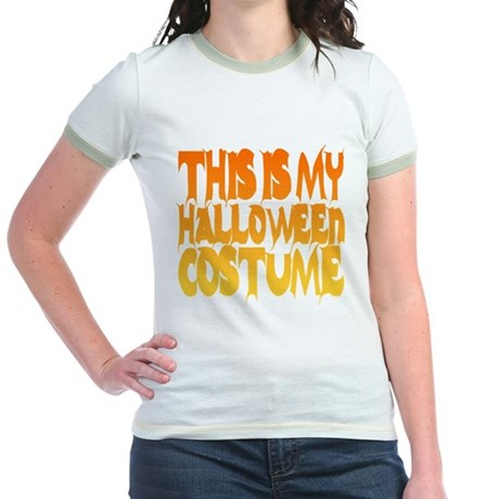 This is My Halloween Costume Jr Ringer T-Shirt