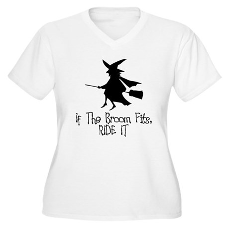 If the Broom Fits Plus Size V-Neck Shirt