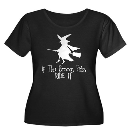 If the Broom Fits Womens Plus Size Scoop Neck Dar