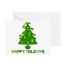 Alien Christmas Tree Greeting Cards (Pk of 10)