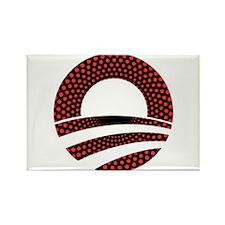 Obama Logo Red Dots Rectangle Magnet (100 pack)