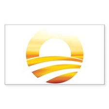 Obama Logo Sunset Rectangle Decal