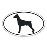Doberman Pinscher Oval Sticker (50 pk)