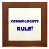 Gemmologists Rule! Framed Tile