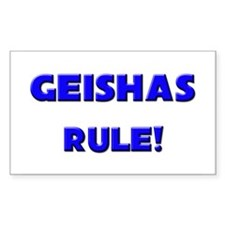 Geishas Rule! Rectangle Decal
