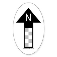 Archaeology north arrow Oval Decal