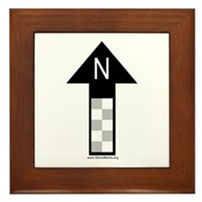 Archaeology north arrow Framed Tile