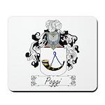 Poggi Family Crest Mousepad
