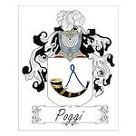 Poggi Family Crest Small Poster