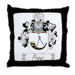 Poggi Family Crest Throw Pillow
