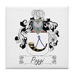 Poggi Family Crest Tile Coaster