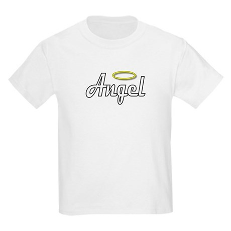 White Angel Wings on back Kids T-Shirt