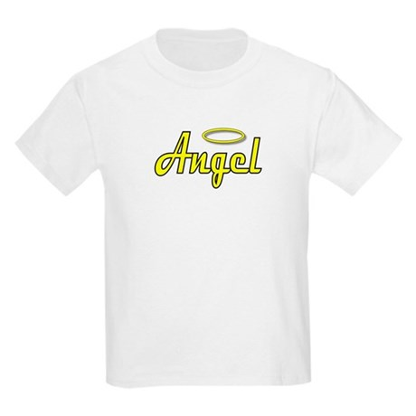 Soft Golden Angel Wings on back Kids T-Shirt