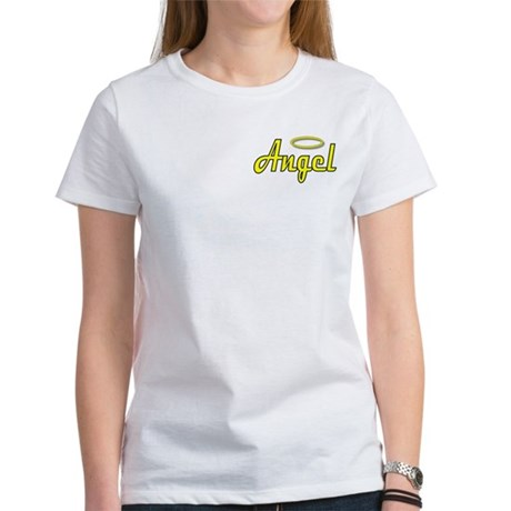 Soft Golden Angel Wings on back Women's T-Shirt