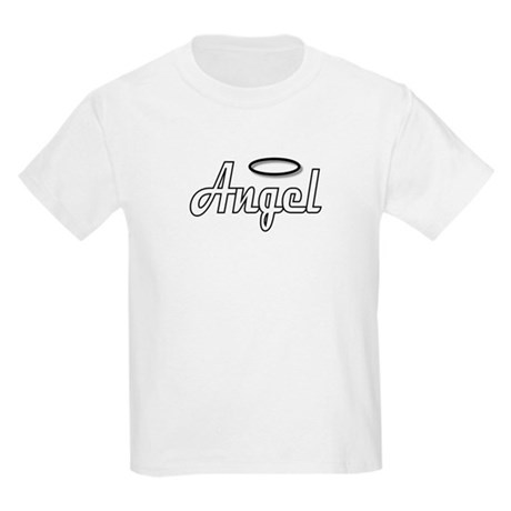 Goth Angel Wings on back Kids T-Shirt