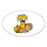 Thanksgiving Harvest Oval Sticker (50 pk)