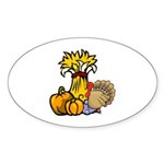 Thanksgiving Harvest Oval Sticker (10 pk)