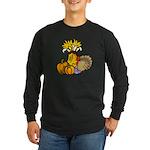 Thanksgiving Harvest Long Sleeve Dark T-Shirt
