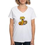 Thanksgiving Harvest Women's V-Neck T-Shirt