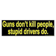 Stupid Driver Bumper Bumper Sticker
