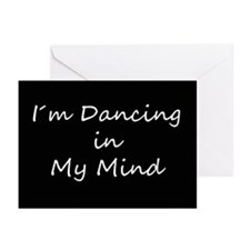 Dancing In My Mind bw s Greeting Cards (Pk of 20)