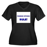 Fisheries Officers Rule! Women's Plus Size V-Neck