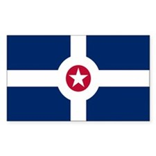 Indianapolis City Flag Rectangle Sticker 10 pk)