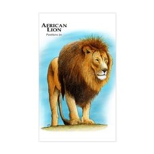 African Lion Rectangle Decal