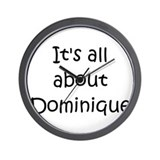 Funny Dominique Wall Clock