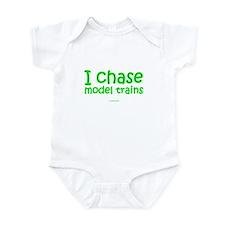 I Chase Model Trains Infant Bodysuit