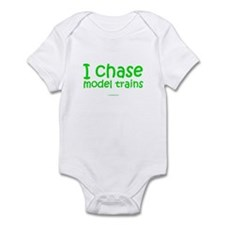 I Chase Model Trains Onesie