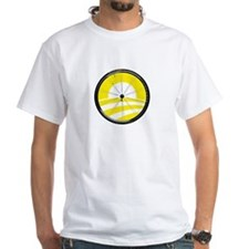 Obama Logo with Bicycle Tire in Yellow Shirt