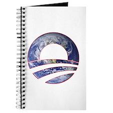 Obama Logo World Cutout Journal