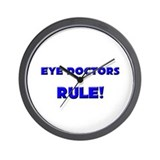 Eye Doctors Rule! Wall Clock