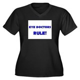 Eye Doctors Rule! Women's Plus Size V-Neck Dark T-