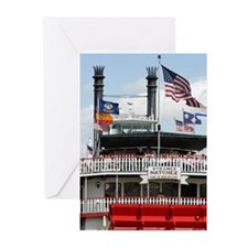 MISSISSIPPI RIVERBOAT - Greeting Cards (Pk of 10)