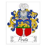 Prata Family Crest Small Poster