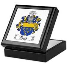 Prato Family Crest Keepsake Box
