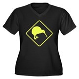 New Zealand Kiwi Sign Women's Plus Size V-Neck Dar