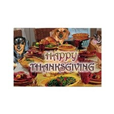 Happy Thanksgiving Rectangle Magnet (10 pack)