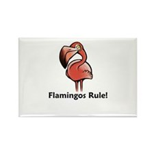 Flamingos Rule! Rectangle Magnet