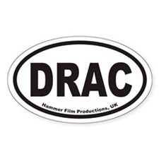 DRAC Hammer Film Productions, UK Oval Decal