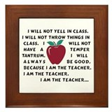 I Am The Teacher Framed Tile