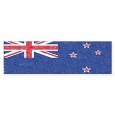 New Zealand Flag Bumper Sticker (10 pk)