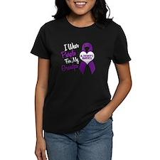 I Wear Purple For My Grandpa 18 (AD) Tee