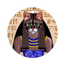 Bastet Ornament (Round)
