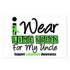 I Wear Lime Green Uncle Postcards (Package of 8)