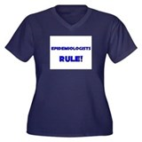 Epidemiologists Rule! Women's Plus Size V-Neck Dar