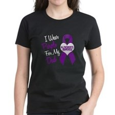 I Wear Purple For My Dad 18 (AD) Tee