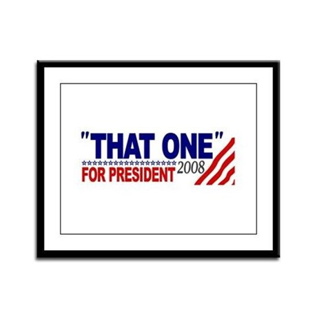 That One for President (Obama Debate) Framed Panel